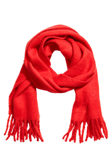 Woven scarf - Bright red - Ladies | H&M CN 1