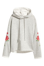 Hooded top with appliqués - Grey - Ladies | H&M 2