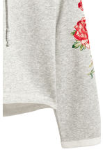 Hooded top with appliqués - Grey - Ladies | H&M 4