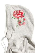 Hooded top with appliqués - Grey - Ladies | H&M IE 3