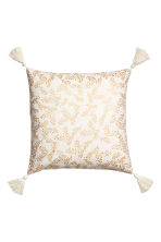 Tasselled cushion cover - White/Patterned - Home All | H&M CN 1