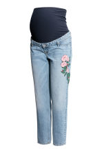 MAMA Slim Ankle Jeans - Light denim blue/Flowers - Ladies | H&M 2