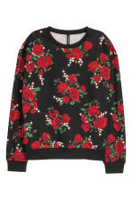 圖案運動衫 - Black/Roses - Ladies | H&M 2