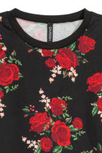 圖案運動衫 - Black/Roses - Ladies | H&M 3