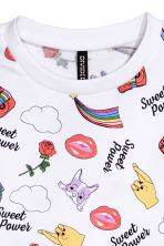 Printed sweatshirt - White/Unicorns - Ladies | H&M 3
