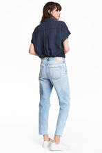 Girlfriend Jeans - Light denim blue/Trashed -  | H&M 4