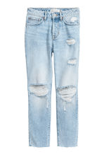 Girlfriend Jeans - Light denim blue/Trashed -  | H&M 2