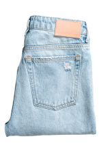 Girlfriend Jeans - Light denim blue/Trashed -  | H&M CN 3