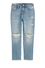 Girlfriend Jeans - Denimblauw trashed -  | H&M NL 2