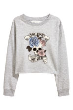 Printed sweatshirt - Grey/Skull - Kids | H&M CN 2