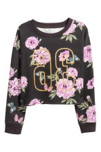 Printed sweatshirt - Dark grey/Floral - Kids | H&M 2