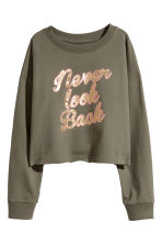 Printed sweatshirt - Khaki green - Kids | H&M CA 2