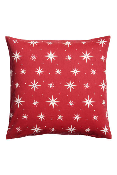 Christmas-print cushion cover - Dark red/Star print - Home All | H&M CN