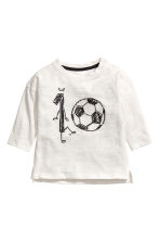 Printed T-shirt - White -  | H&M CN 1