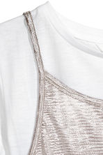 Double-layered top - White/Silver-coloured - Kids | H&M 3