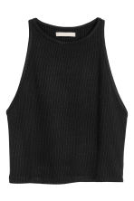 Short vest top - Black -  | H&M CN 2