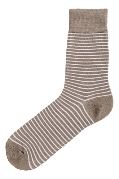 Striped socks - Leopard print - Men | H&M 1