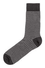 Striped socks - Black - Men | H&M 1