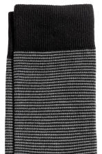 Striped socks - Black/Striped - Men | H&M 2