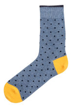 Jacquard-knit socks - Mustard yellow - Men | H&M 1