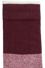 Jacquard-knit socks - Burgundy - Men | H&M GB 2
