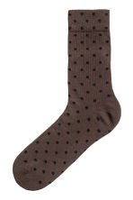 點點襪 - Dark brown/Spotted - Men | H&M 1