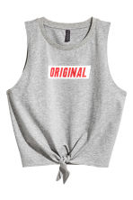 Tie vest top - Grey marl - Ladies | H&M 2