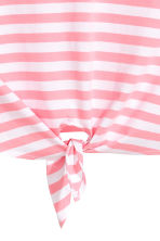 Tie vest top - White/Pink striped - Ladies | H&M 3