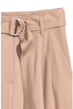 Wide lyocell trousers - Light beige - Ladies | H&M CN 3