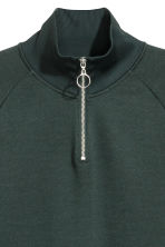 Top with stand-up collar - Dark green - Men | H&M CN 3