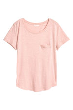 Slub jersey T-shirt - Powder pink - Ladies | H&M 2