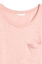 Slub jersey T-shirt - Powder pink - Ladies | H&M 3
