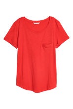 Slub jersey T-shirt - Red - Ladies | H&M 2
