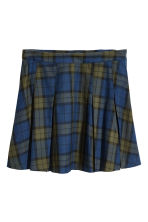 Pleated Skirt - Blue/green plaid - Ladies | H&M IE 2
