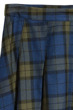 Pleated Skirt - Blue/green plaid - Ladies | H&M IE 3