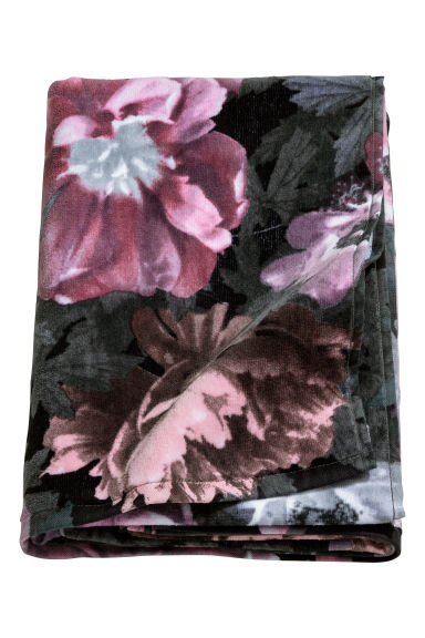 Patterned bath towel - Black - Home All | H&M CN 1