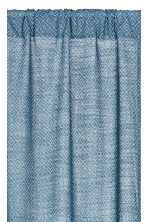 2-pack curtain lengths - Blue/White patterned - Home All | H&M IE 2