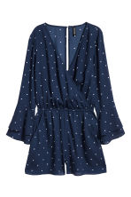 V-neck Jumpsuit - Dark blue/dotted - Ladies | H&M CA 2