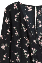 V-neck playsuit - Black/Floral - Ladies | H&M IE 4