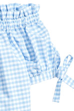露肩上衣 - Light blue/Checked - Ladies | H&M 3