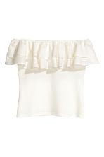 Off-the-shoulder top - White - Ladies | H&M 2