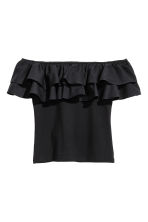 Off-the-shoulder top - Black - Ladies | H&M CN 2