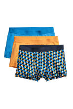 3-pack trunks - Blue/Patterned - Men | H&M 2