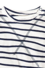 Long-sleeved top - White/Blue striped -  | H&M 2