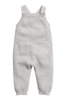Textured-knit romper suit