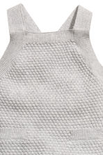 Textured-knit romper suit - Light grey - Kids | H&M 3