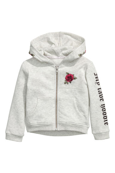Printed hooded jacket - Grey - Kids | H&M