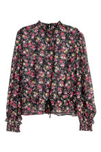 Chiffon blouse - Black/Floral - Ladies | H&M CN 2