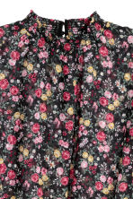 Chiffon blouse - Black/Floral - Ladies | H&M CN 3