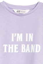 Printed jersey top - Light purple - Kids | H&M CN 2